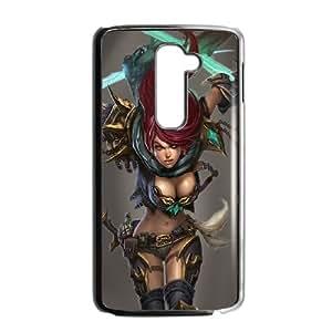 LG G2 Cell Phone Case Black_Katarina - League Of Legends Sclgq