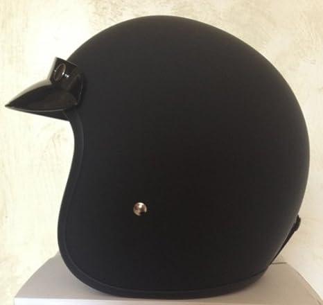 peque/ño y homologado color negro Small negro mate GZM Casco Jet similar al Bandit