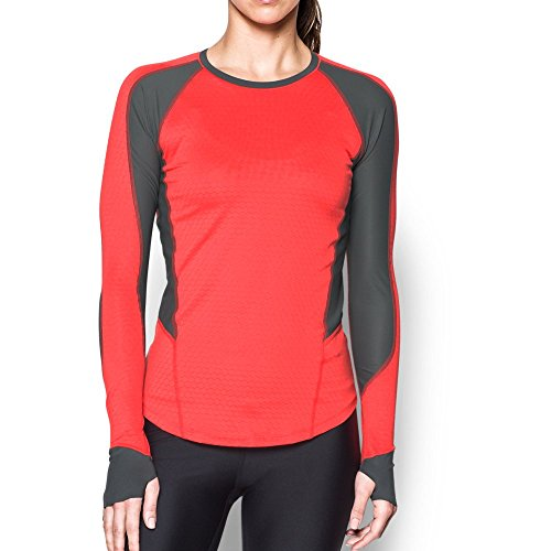 Under Armour Women's ColdGear Reactor Long Sleeve,Marathon Red /Reflective, Small by Under Armour (Image #1)