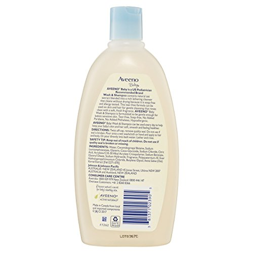 Large Product Image of Aveeno Baby Wash & Shampoo For Hair & Body, Tear-Free, 18 Oz.