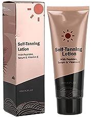 125ml Tanning Lotion, Moisturizing Self‑Tanning Cream Tanning Sunbed Lotion Sunless Tannerfor Deep Skin Tone For All Skin Types, Light, Fair, Medium, Dark and Sensitive
