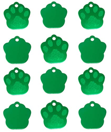 Wholesale Dog Tags (TheAwristocrat 12 Pack Blank Pet ID Tags for Dogs & Cats Wholesale - Select from a Variety of Shapes & Colors (Green,)
