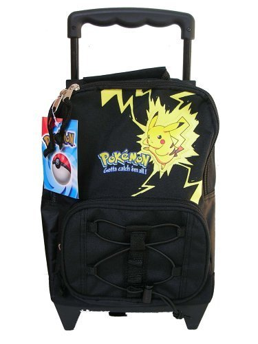 Amazon.com: Pikachu Pokemon Kids Rolling Backpack Luggage Bag ...