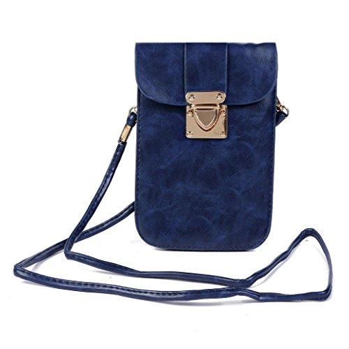Girls Blue Womens Oriskey Purse Messenger Cellphone Pouch Single Deep Crossbody Travel Bag PU Handbag Mini Shoulder Leather Black Tqqr45xd