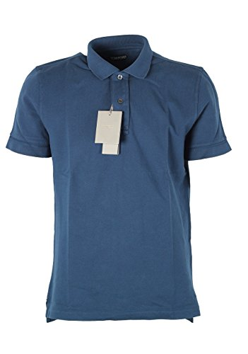 CL - Tom Ford Blue Piquet Short Sleeve Polo Shirt Size 52/42R - Tom Ford Polo