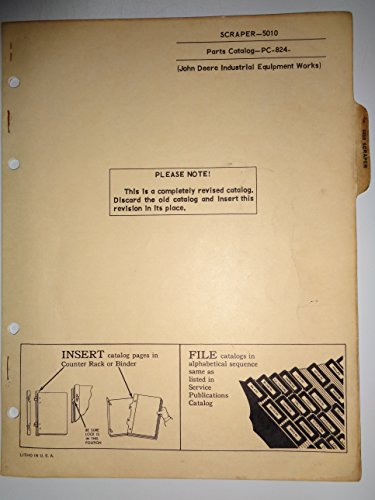 John Deere 5010 Elevating Scraper Parts Catalog Book Manual 1/66 original