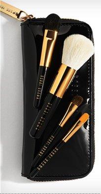 Bobbi Brown Mini Brush Set - BOBBI BROWN Mini BRUSH Set :4 Mini Brush +Mini Brush Case .