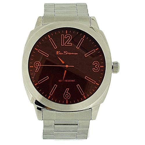 Ben Sherman Gents Orange Dial Silver Tone Metal Bracelet Strap Dress Watch ()