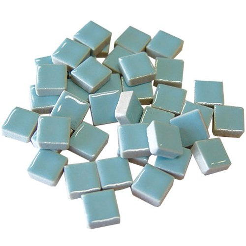 Jennifer's Mosaics 1-Pound 3/8-Inch  Deco Ceramic Mosaic Tile, Light Blue