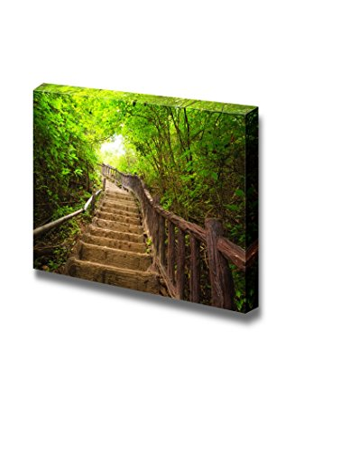 Stairway to Forest Erawan National Park Kanchanburi Thailand Home Deoration Wall Decor ing