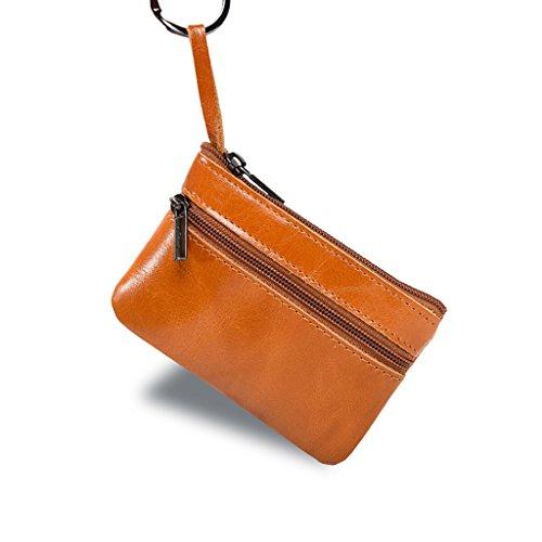 Portefeuille Purse Porte Crédit clés de Zipper Sac Titulaire avec Main Petit Carte à Hommes Femmes Noir SLYlive PWxpTT