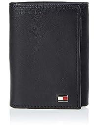 Tommy Hilfiger Men's Oxford Slim Credit Card Trifold, Black