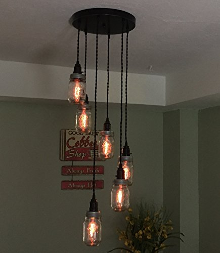 mason jars chandelier - 6