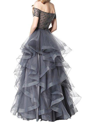 Damen Grau Abschlussballkleider Damen Kleider Abendkleider Lang Festliche Ballkleider Charmant Promkleider Violett fCOxqwxd4