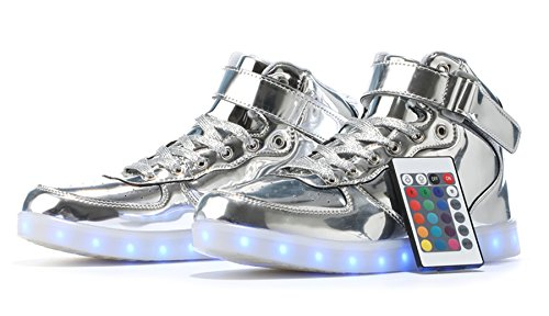 MaiDun LED Light Up Shoes High Top Sneakers with Remote Control for Womens Mens Kids Codenames