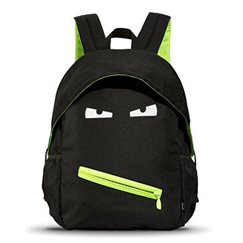 ZIPIT Grillz Backpack for Kids with Extra Side Pocket, Black