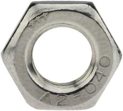 Reidl Sechskantmuttern mit Fase M 18 x 1,5 mm DIN 439 A2 blank 10 St/ück