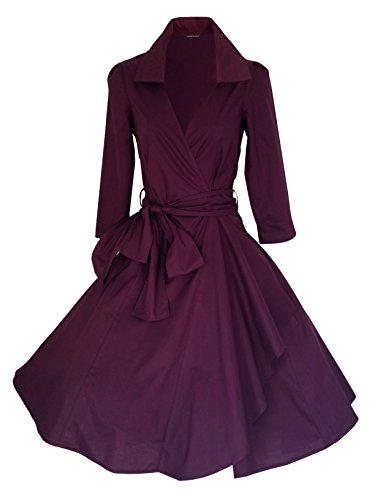 look for the stars - Robe - Uni - Manches 3/4 - Femme -  Violet - 46