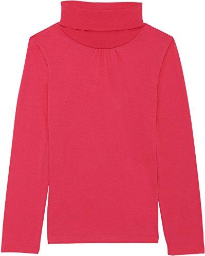 Girls Turtleneck (French Toast School Uniform Girls Long Sleeve Turtleneck T-Shirt, Fuchsia Burst, Large (10/12))