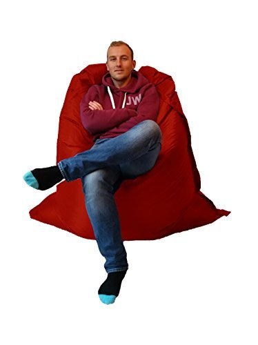 Extra Large Giant Beanbag Red - Indoor & Outdoor Bean Bag - MASSIVE 180x140cm - great for Garden Outside-In