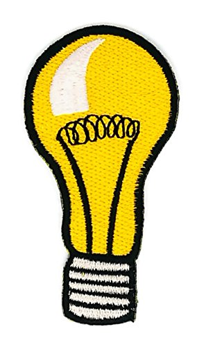 1.7 x 3.5 inches.Yellow light bulb Cartoon Patch Embroidered DIY Patches, Cute Applique Sew Iron on Kids Craft Patch for Bags Jackets Jeans - Canada Usps Does To Ship