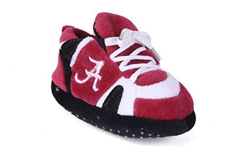 ALA03PR - Alabama Crimson Tide NCAA Happy Feet Baby Slippers