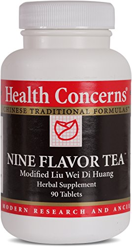 Health Concerns – Nine Flavor Tea – Modified Liu Wei Di Huang Herbal Supplement – 90 Tablets