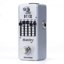 Muzizy GT EQ 5-Band Graphic Equalizer Electric Guitar Effect Pedal Mini Single Effect with True Bypass