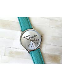 Watches, 3 Colors Who Cares Im Late Anyway Watch Leather Strap Women Watch Quartz Watch Relojes Mujer