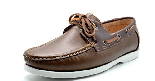Bruno-Marc-MODA-ITALY-SUNSEEKER-Mens-Casual-Loafers-Two-Eye-Contrasting-Leather-Lace-Up-Classic-Driving-Boat-shoes