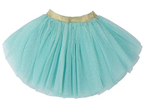 WGOODTECK Newborn Infant Baby Girls Super Soft Glitter Sparkle Tulle Tutu Skirt(0-12M,Aqua) -