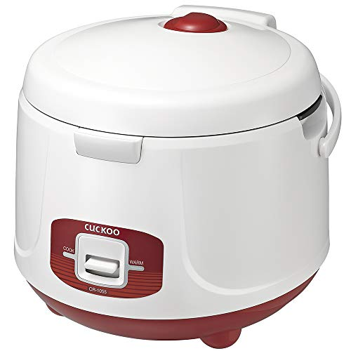 Cuckoo CR-1055 Electric Rice Cooker, 10 Cups, Red, 110v