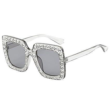 Amazon.com: Gafas de sol de moda para mujer con cristales de ...