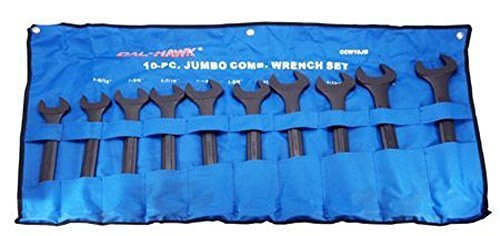 Cal Hawk Tools CCW10JB Jumbo Combination Wrench Set - SAE
