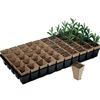 Jiffy Peat 2'' X 3'' Pot Strip Sheets - 50 Pots Per Sheet - 40ct Case by Jiffy