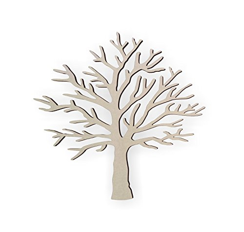 Jess and Jessica Wooden Tree Shape – Cutout, Home Decor, Unfinished]()