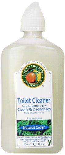 Earth Friendly Products Toilet Cleaner, Natural Cedar, 17-Ounce Bottle (Pack of 6)