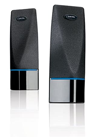 speakers in amazon. digital innovations 4330100 acoustix 2.0 stereo speakers in amazon