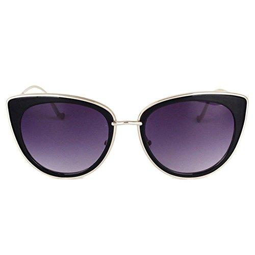 Aoligei Dames de lunettes de soleil et lunettes de soleil visage mince  lunettes fashion Street E ... 89e62600fc43