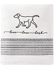 SKL Home by Saturday Knight Ltd. Fur Ever Friends Bath Towel, White