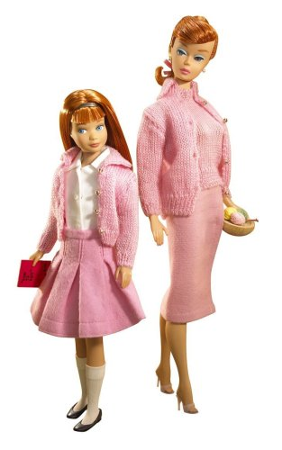Knitting Pretty Barbie Doll and Skipper Giftset Collectors Edition #2