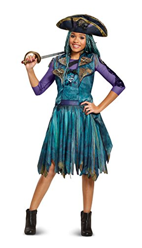 amazoncom disney uma classic descendants 2 costume teal small 4 6x toys games