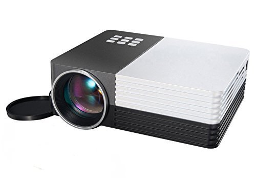 UCOS GM50 Multimedia Home Theater Mini Projector with HDMI AV VGA Inputs SD Memory Card and USB Flash - Flash Card Multimedia Memory