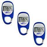 Best Digital Pedometer for Walking Triple Pack, Easy Step & Calorie Counter, Get Fit, Healthy & Burn Calories Fast With This Wireless Personal Activity & Fitness Tracker By X2 Innovations