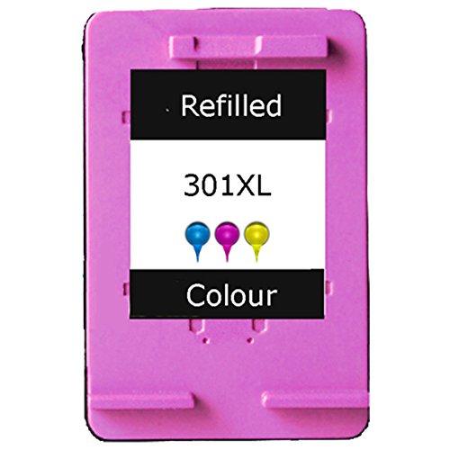 Refilled HP 301XL Colour Ink Cartridge for HP Deskjet 1000, 1010, 1050, 1055, 1510, 1512, 1514, 2000, 2050, 2054a, 2510…