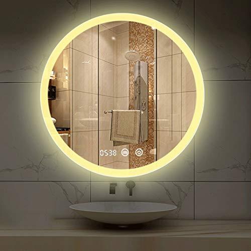 Intelligent Round Touch Led Illuminated Bathroom Mirror Diameter 600 700 mm Shaver -