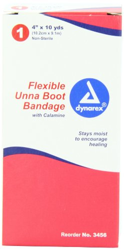 Dynarex Unna Boot with Calamine, 4 Inches X 10 Yards (Pack of 12) by Dynarex