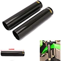 Dibiao Motorcycle Front Fork Slider,2 Pieces Universal CNC Motorcycle Front Fork Anti-Collision Slider