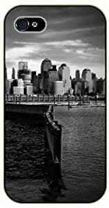 New York Statue Of Liberty Island Clear Plastic Diy For Iphone 4/4s Case Cover