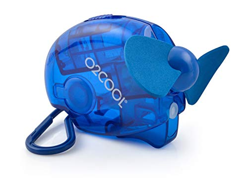 Small Carabiner Keychain Misting Fan, Blue